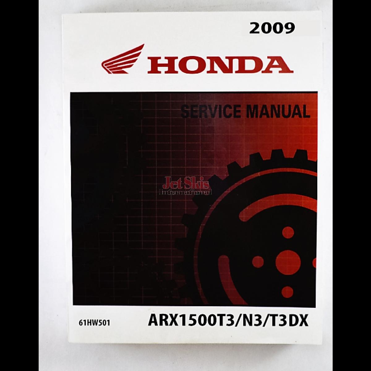 honda aquatrax f15 f15x service and shop manual 61hw501 jet skis rh jetskisint com Riced Out Honda Honda Type R