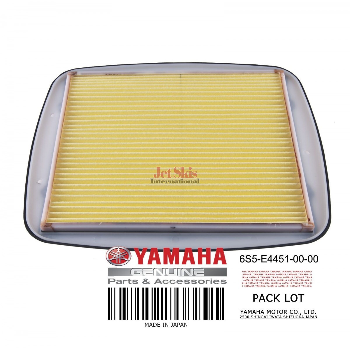 Yamaha Element Air Cleaner 6s5 E4451 00 Jet Skis International Waverunner Fuel Filter Original