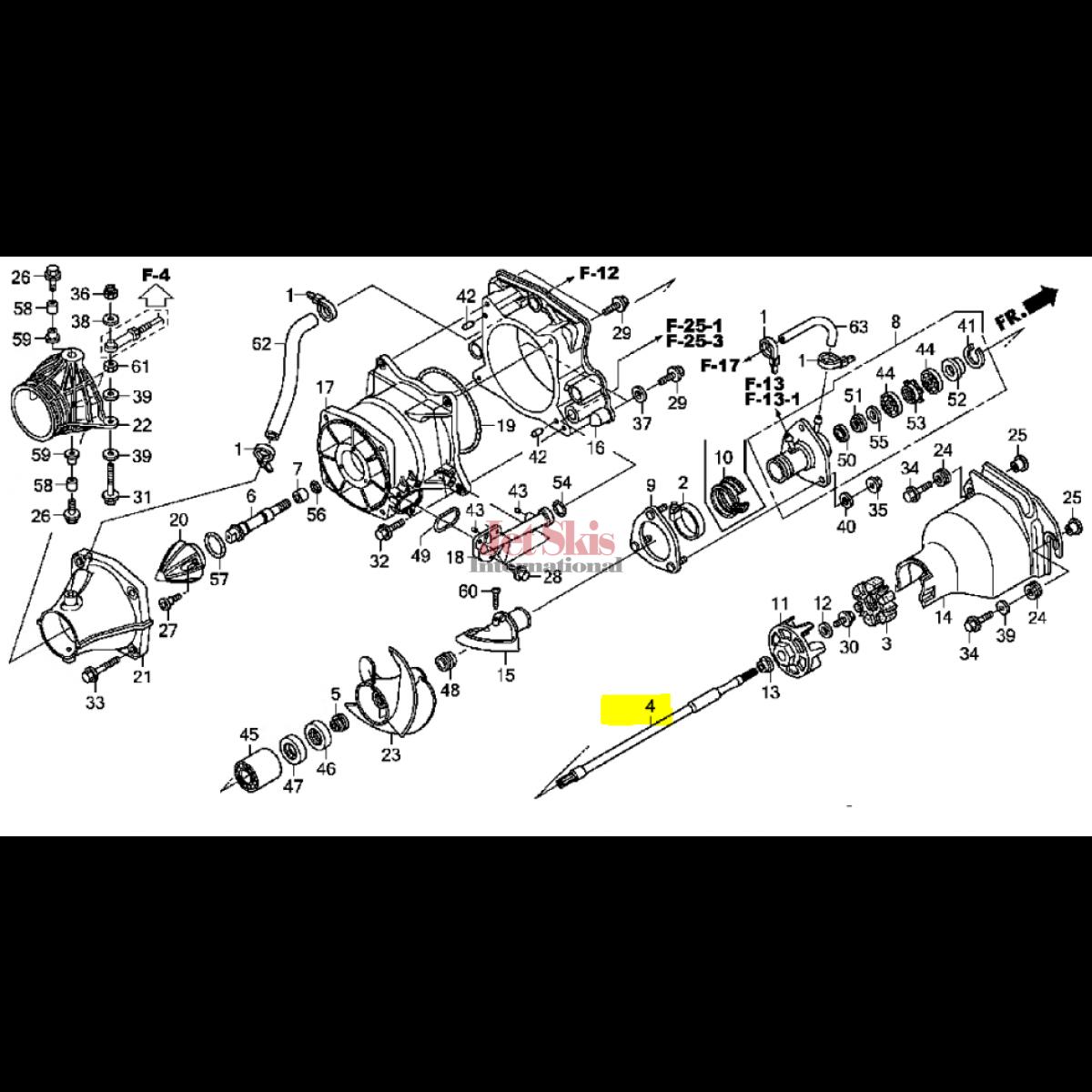 Sea Doo 4 Tech Engine Parts Wiring Diagram And Fuse Box F 12x 2005 As Well Kawasaki Piston Ring Set 12f Stx 12 13001 3736