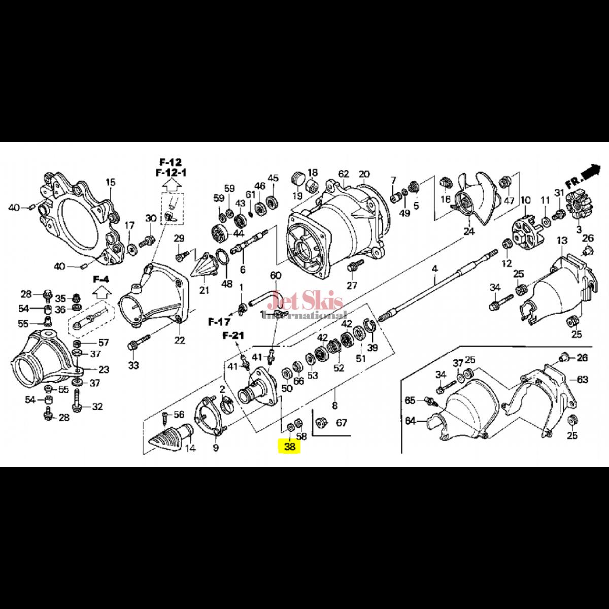 Honda Aquatrax Part 90514 921 000 Washer 8mm Jet