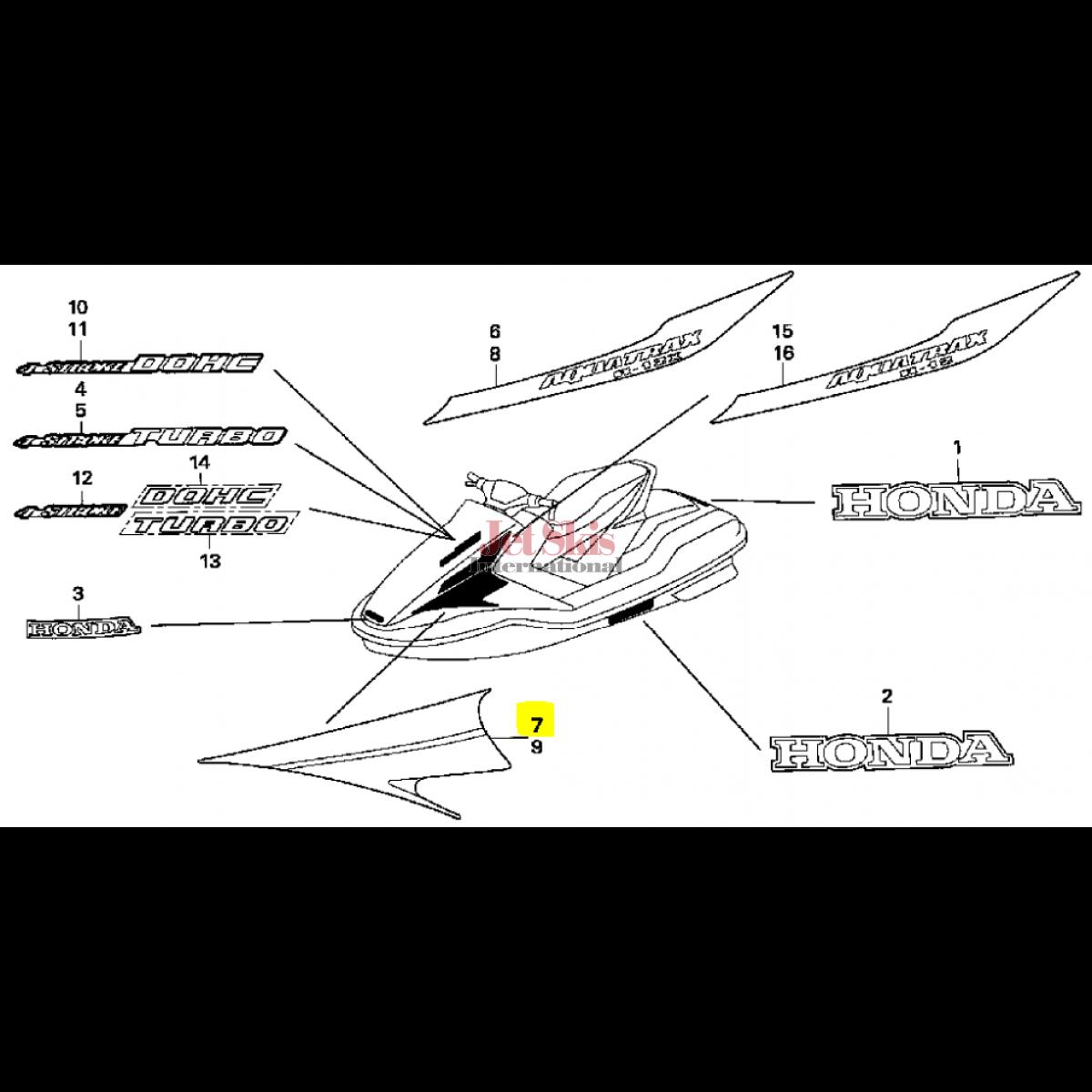honda aquatrax diagram wiring source rh shopbangolufsen com