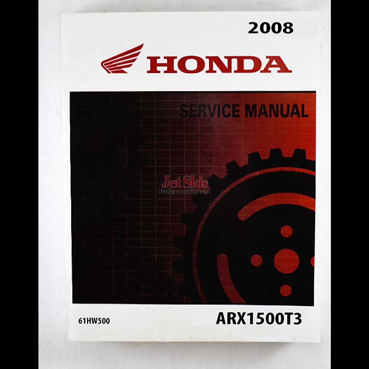 ... Honda Aquatrax Service Manual '08 F15X. 2008 F15X Service, Repair, and  Shop Manual 61HW500