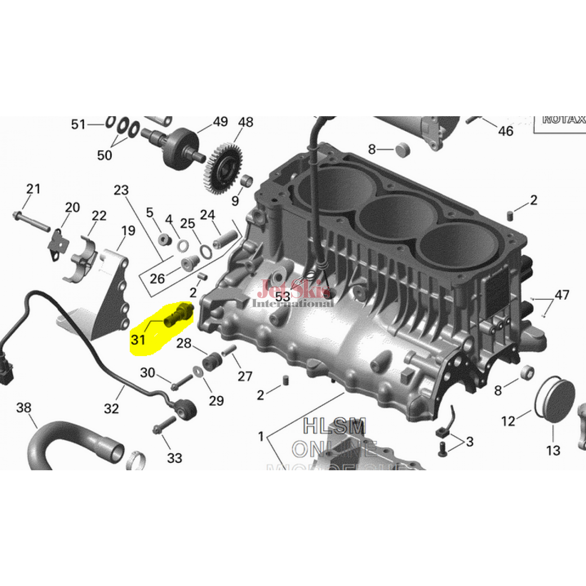 Ski Doo 215 Engine Diagram Diy Wiring Diagrams Sea Oil Pressure Switch 420856533 Fitment Chart Jet Skis Rh Jetskisint Com 1994 Parts Manual