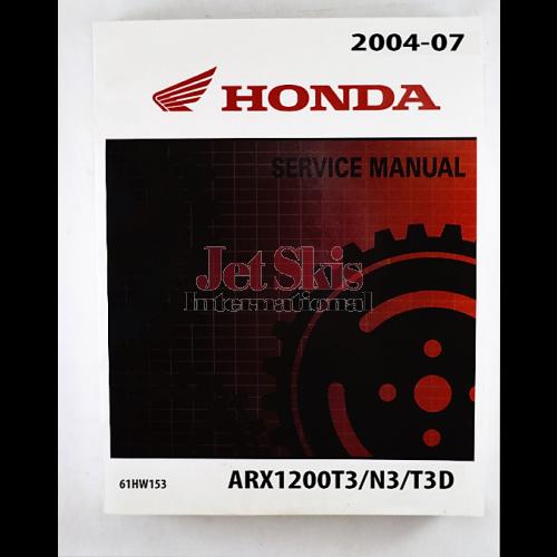 honda aquatrax f12 f12x service and shop manual 61hw101 jet skis rh jetskisint com Honda Motorcycle Service Manual Honda Service Manual PDF