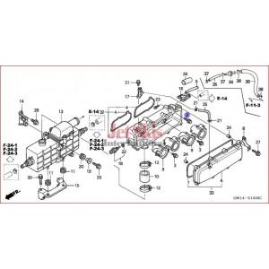 HONDA AQUATRAX 16572-HW1-670 BOLT, FLANGE (5X18)