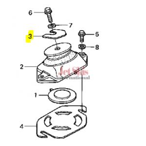 HONDA 50202-HW1-680 ENGINE SHIM (0.3MM)