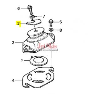 HONDA 50204-HW1-680 ENGINE SHIM (1.0MM)