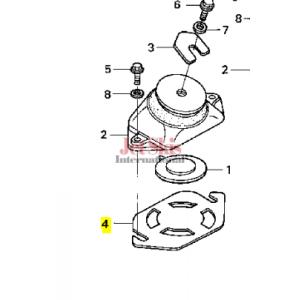 HONDA 50208-HW1-680 MOUNT SHIM (1.0MM)