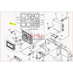 Yamaha 6EX-82170-00-00 - FUSE BOX ASSY