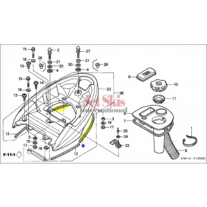 F12,F12X REAR GRIP SEAL 77355-HW1-670