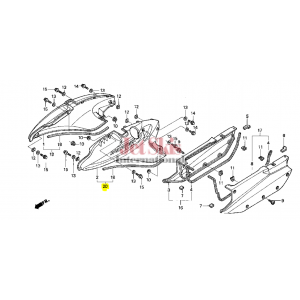 HONDA 83600-HW1-690ZB L SIDE COVER SET
