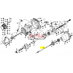 Diagram of 41112-HW5-900 Drive Shaft