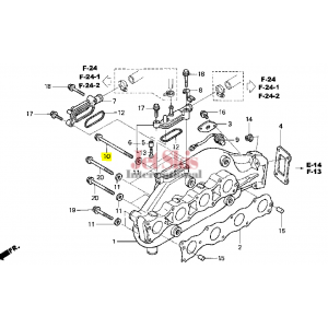 HONDA AQUATRAX PART # 90013-HW1-670 BOLT, FLANGE (8X135)