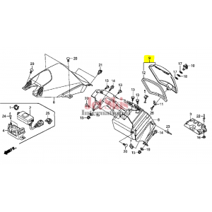 HONDA AQUATRAX 81330-HW5-900ZA LID ASSY GLO*NH1