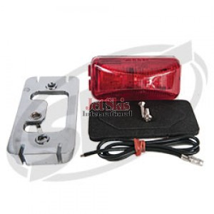 LED clearance light red chrome bezel 1.5 x 2.88