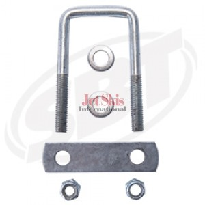 Trailer U-Bolts with Frame Straps  2-1/ 8 x 4 & 4 strap