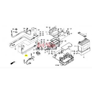 HONDA 32401-HW3-670 STARTER BATTERY CABLE