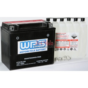 Battery CTX19l_BS replaces OEM battery YB16L-B