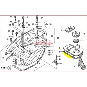 81262-HW1-670 TOOL STORAGE TRAY SEAL