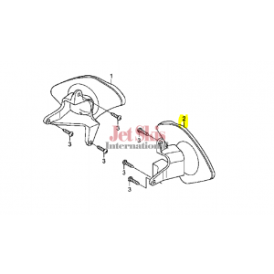 HONDA 88120-HW5-900 MIRROR ASSY, L