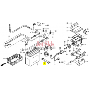 HONDA AQUATRAX PART# 31501-HW1-670 BAND, BATTERY