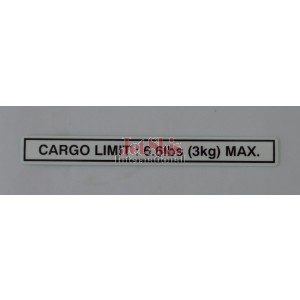 Cargo Limit Label