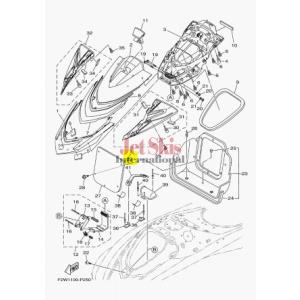 YAMAHA F3P-U590D-00-00 MIRROR ASSY