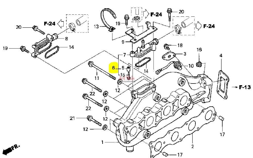 honda aquatrax part 18100 hw1 731 exhaust manifold jet skis rh jetskisint com Honda Aquatrax 2007 Honda Aquatrax F-15X