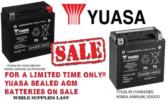 Yuasa Battery Sale