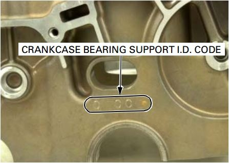Location of Honda Bearing COlor COde on the crankcase