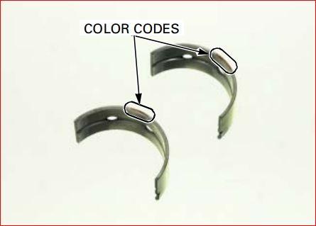 How to locate the Honda Aquatrax bearing color code